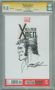 All New X-Men #1 Blank CGC 9.8 Signature Series Signed Neal Adams Logan Sketch OA Marvel comic book